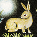 Rabbit And The Butterfly . . . From The Tapestry Series by Terry Webb Harshman