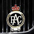 Royal Automobile Club Badge, Victoria by Marcus Dagan