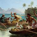 Race To The Market Tahiti by Nicholas Chevalier
