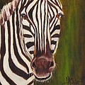 Racer, Zebra by Sandra Reeves