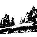 Racing Over The Ski Jump by Larry Kjorvestad