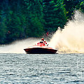 Racing Speed Boat by Les Palenik