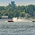 Racing Speedboats by Les Palenik