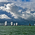 Racing Yachts In The Solent by Gary Eason
