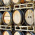 Rack Of Old Oak Wine Barrels by Susan Schmitz