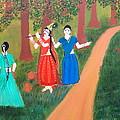 Radha Playing Krishna by Pratyasha Nithin