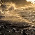 Radiant Sunrise Surf by Marty Saccone