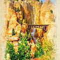 Radiator Springs Waterfall by Ricky Barnard