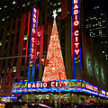 Radio City At Christmas Time - Holiday And Christmas Card by Miriam Danar