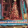 Radio City Music Hall Christmas New York City by Beverly Brown Prints