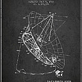 Radio Telescope Patent From 1968 - Charcoal by Aged Pixel