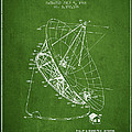Radio Telescope Patent From 1968 - Green by Aged Pixel