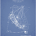 Radio Telescope Patent From 1968 - Light Blue by Aged Pixel