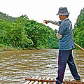 Rafting Guide On Mae Thang River Near Chiang Mai-thailand by Ruth Hager