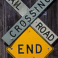 Rail Road Crossing End Sign by Garry Gay