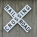 Rail Road Crossing Sign by Cathy Lindsey