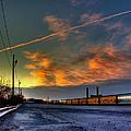 Railroad At Dawn by Tim Buisman