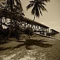 Railroad  Bridge In Sepia by Robert Klemm