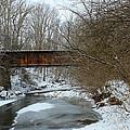 Railroad Bridge In Winter by Harold Hopkins