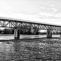 Railroad Bridge Over The Schuylkill River In Norristown by Bill Cannon