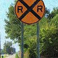 Railroad Crossing Sign by Gravityx9 Designs