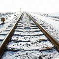 Railroad In Snow by Jan Brons