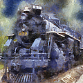 Railroad Locomotive 639 Type 2 8 2 Photo Art by Thomas Woolworth