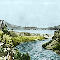 Railroad Suspension Bridge, 1856 by Science Source