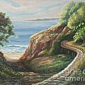 Railroad Track By The Beach by Jeanne Wrede