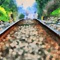 Railroad Tracks In The Summer Heat by Dan Sproul