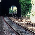Railroad Tracks At Conway Castle, Wales  by Marcus Dagan