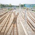 Railroad Train Yard by Jim Pruitt