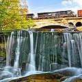 Railroad Waterfall by Frozen in Time Fine Art Photography