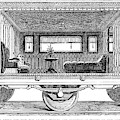Railway Carriage, 1864 by Granger