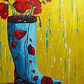 Rain Boot Series Unusual Flower Pots by Patricia Awapara