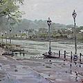 Rain In Lewiston Waterfront by Ylli Haruni
