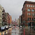 Rain On Water Street 1 by Anita Burgermeister