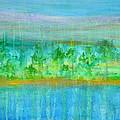 Rain  Original Contemporary Acrylic Painting On Canvas by Regina Valluzzi