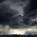 Rain Shafts From Thunderstorm by Greg Reed