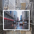 Rain Wisconsin Ave Wide View by Anita Burgermeister