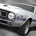 Rain Won't Spoil My Fun - 1969 Shelby Gt500 Mustang by Gill Billington