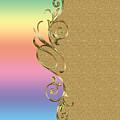 Rainbow And Gold by Georgeta Blanaru