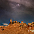 Rainbow And Sandstone Formations Fantasy Canyon Utah by Dave Welling