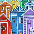 Rainbow Beach Huts by MGL Meiklejohn Graphics Licensing