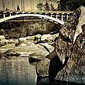 Rainbow Bridge In Folsom Ca by Shawn McMillan