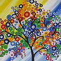 Rainbow Bubble Tree by Cathy Jacobs
