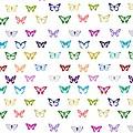Rainbow Butterfly Pattern by Li Or