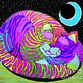 Rainbow Cat Blue Moon by Nick Gustafson