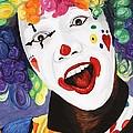 Rainbow Clown by Patty Vicknair