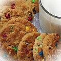 Rainbow Cookies And Milk - Food Art - Kitchen by Barbara Griffin